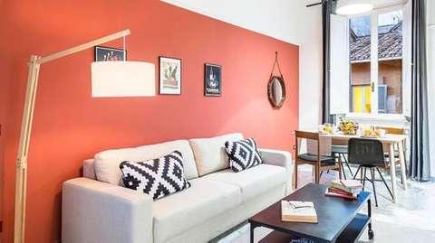 L'orange, couleur chaude, vous feras penser au soleil du sud.
